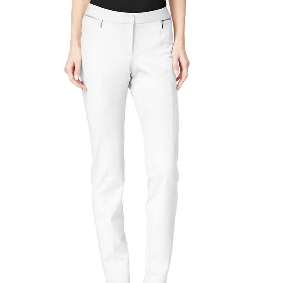 3a69a381558bc Alfani Womens Zip-Pocket Slim Leg Trouser Pants 12